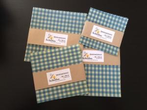 Bienenwachstuch blau Karo 100% Bienenwachs und Baumwolle - Handarbeit kaufen