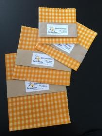 Bienenwachstuch gelb Karo 100% Bienenwachs und Baumwolle