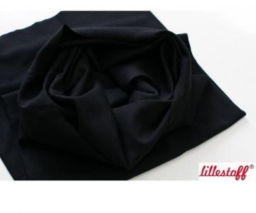 BIO-Schlauchbündchen in Schwarz, glatt von lillestoff