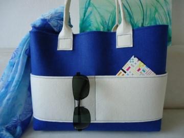 Filz Tasche, Shopper, Handtasche, Schultertasche, Tasche, individualisierbar - Handarbeit kaufen