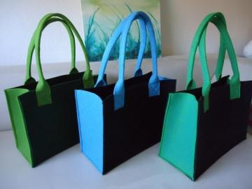 Filz Taschen, Handtasche, Schultertasche, Shopper, verschiedene Farben - Handarbeit kaufen