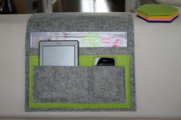 Sofa Taschen, Sofa Butler, Tablet Tasche, Handy Tasche, e Reader Tasche, Filz,Individualisierbar - Handarbeit kaufen