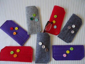 Brillenetuis aus Filz, verschiedene Farben - Handarbeit kaufen
