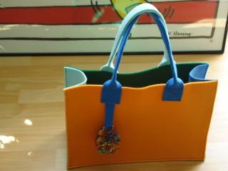 Handtasche, Schultertasche, Shopper, Filz Tasche, individualisierbar - Handarbeit kaufen