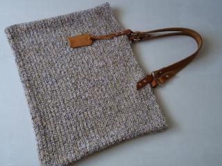 Häkel Tasche,Schultertasche, Leder Träger, große Schultertasche, Häkeltasche, Hand gehäkelt (Kopie id: 100078785) - Handarbeit kaufen