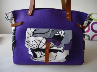 Schultertasche, Shopper, Filz+Baumwolle+ Leder, Handtasche (Kopie id: 100013889) (Kopie id: 100078848) - Handarbeit kaufen