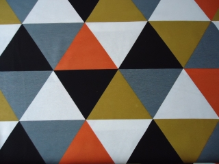 Stoff, Canvas Stoff, bedruckt, große Dreiecken, Geometrie Design (Kopie id: 100080356) - Handarbeit kaufen