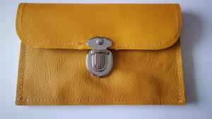 Echt Leder Geldbörse, Leder Portemonnaie mit Steckschloß (Kopie id: 100203916)
