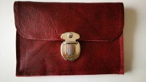 Echt Leder Geldbörse, Leder Portemonnaie mit Steckschloß (Kopie id: 100203916) (Kopie id: 100203920)