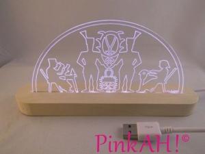 Mini LED Schwibbogen Erzgebirgsmotiv Motivlampe Leuchterbogen Nachtlicht Stehlampe USB - Handarbeit kaufen