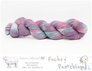☆ Ein Fisch namens Wanda ☆ SoWo mit Baumwolle 4Ply  ༄ 100g / 416m  ༄ Mulesingfreie, knotenfreie handgefärbte Wolle - Handarbeit kaufen