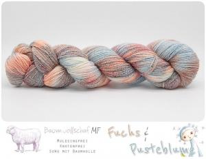☆ Stand by me ☆ SoWo mit Baumwolle 4Ply  ༄ 100g / 416m  ༄ Mulesingfreie, knotenfreie handgefärbte Wolle - Handarbeit kaufen