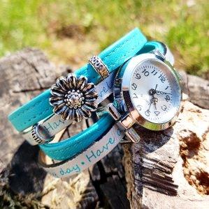 Welcome Summer - Absolutes Einzelstück in Türkis - NEUE Collection - Ihr Sommer-Outfit am besten zusammen kombiniert mit meinem Wickelarmband & Uhr