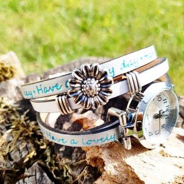 Welcome Summer - Absolutes Einzelstück in Silber-Türkis-Weiß - NEUE Collection - Ihr Sommer-Outfit am besten zusammen kombiniert mit meinem Wickelarmband & Uhr