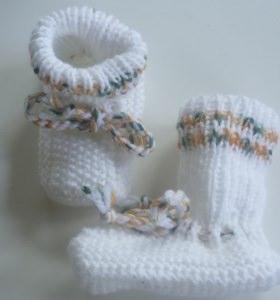 ♥Baby-Strickschuhe sie sind handgestrickt mit einer Sohllänge von 10,5 cm♡