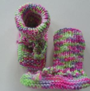 ♥Baby-Strickschuhe sie sind handgestrickt mit einer Sohllänge von 11 cm♡