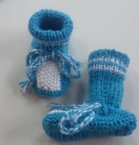 ♥Baby-Strickschuhe sie sind handgestrickt mit einer Sohlenlänge von 10,5 cm♡