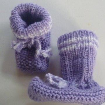 ♥Baby-Strickschuhe sie sind handgestrickt mit einer Sohlenlänge von 9,5 cm♡
