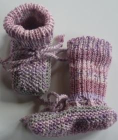 ♥Baby-Strickschuhe sie sind handgestrickt mit einer Sohlenlänge von 8,5 cm♡