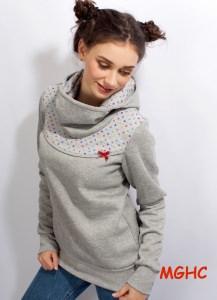 Hoodie Pygmy Konfetti grau Gr. 34-42 Pulli Sweater Damen in Gr. S-XL kaufen