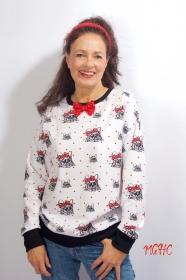 Pulli Mops Winterpulli, Longpulli , Sweatshirt, oversized Pulli, Sweater Mopsmotiv, Hundemotiv, French Terry