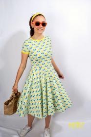 Kleid Lucy Retro Sommerkleid Tellerkleid Rockabilly Knielanges Kleid Damenkleid swing Tanzkleid Blumenkleid