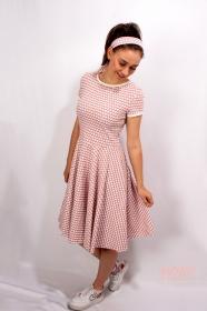 Kleid Lucy Blumen Sommerkleid Tellerkleid Rockabilly Knielanges Kleid Damenkleid swing Tanzkleid Blumenkleid