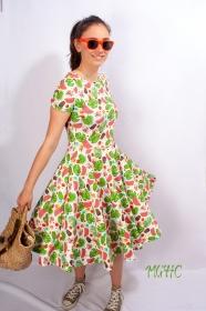 Kleid Lucy Dschungel Sommerkleid Tellerkleid Rockabilly Knielanges Kleid Damenkleid swing Tanzkleid