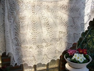 Lacetuch *MARRY ME* gestrickte Stola in creme/ naturfarben