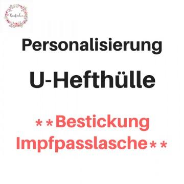 Personalisierung U-HEFT bestickte Impfpasslasche