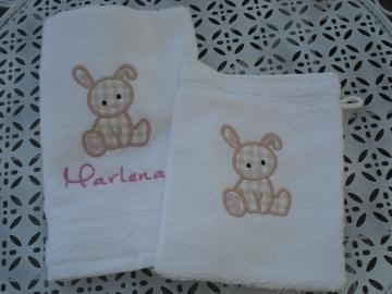 Baby Waschlappen & Handtuch mit Motiv und Namen