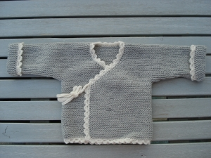 Baby Wickel Strickjacke aus Merinowolle in Gr. 56/62