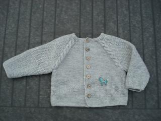 Baby Strickjacke aus Merinowolle in Gr. 74/80