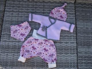 Baby-Set - Wickeljacke & Babyhose Gr. 56-62