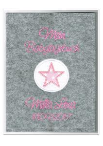 Babytagebuch • Stern Rosa • Filz • Fotoalbum •