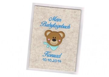 Babytagebuch • Teddy Bär • Filz • Fotoalbum •
