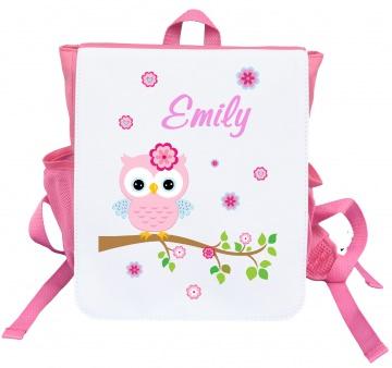 Kinder Rucksack Eule 1 mit Name Kindergartentasche Kindergartenrucksack Tasche