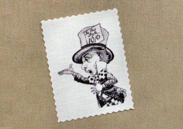 Alice Hutmacher Nostalgie Vintage Stoffbild Applikation Aufnäher - 148
