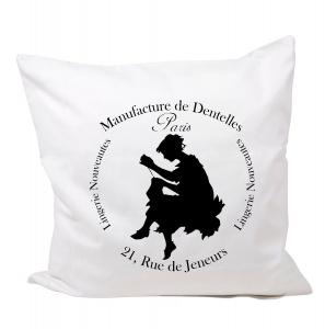 Kissenhülle bedruckt Nähen Paris french Vintage Nostalgie Shabby Deko No 86