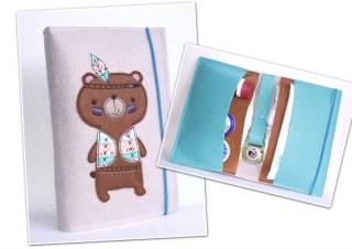Windeltasche • Wickeltasche • Indianer Teddy Bär •