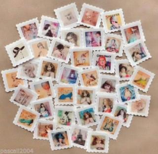 40 x Label Stoffbilder