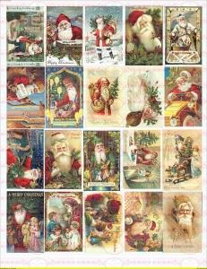 Bügelbild Weihnachten Winter Weihnachtsmann Nostalgie Shabby Vintage 1774 A4