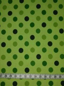 Jersey grün mit grünen Punkten/Kreisen