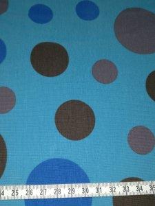 Jersey blau mit Kreisen in blau und grau