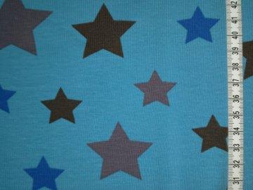 Jersey blau mit Sterne in blau und grau