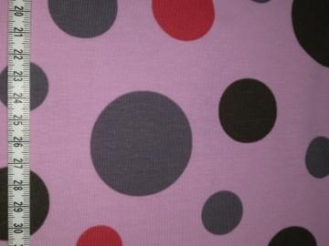 Jersey grau mit rosa mit roten und grauen Kreisen