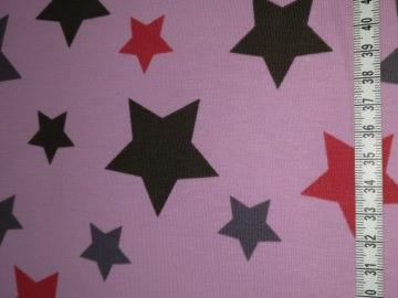 Jersey rosa mit roten und grauen Sterne