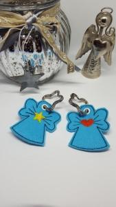 2-er Set Schlüsselanhänger Engel aus Filz