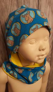 Set Mütze - Beanie - und Halswärmer Kinder Gr.50  - Handarbeit kaufen