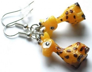 niedliche Giraffen Ohrringe - 1 Paar Ohrhänger